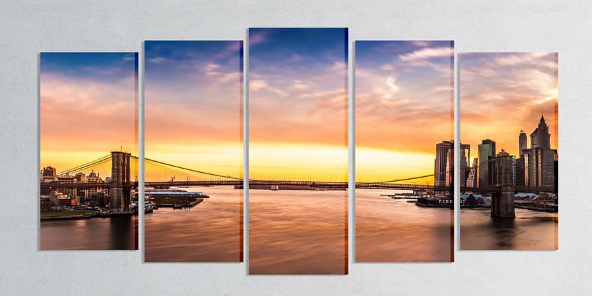 "Модульная картина ""Мост Нью Йорк"", фото 2"