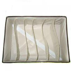 Коробка-органайзер для вещей R17465, коричнево-белая