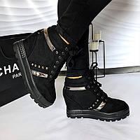 da9bb4ef3198 Женские демисезонные ботинки сникерсы на танкетке,размер в размер.