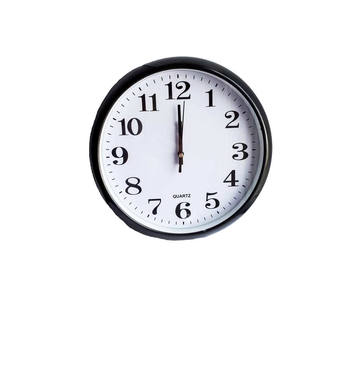 Часы настенные круглые Abееr 200BLR с округлой окружностью.