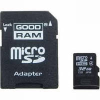 Карта памяти micro SDHC 32Gb GoodRam (Class 4, adapter)