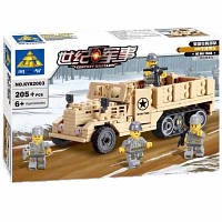 Конструктор Brick Военный грузовик KY82003