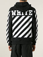 Худи чёрное   Off White logo top   Толстовка стильная