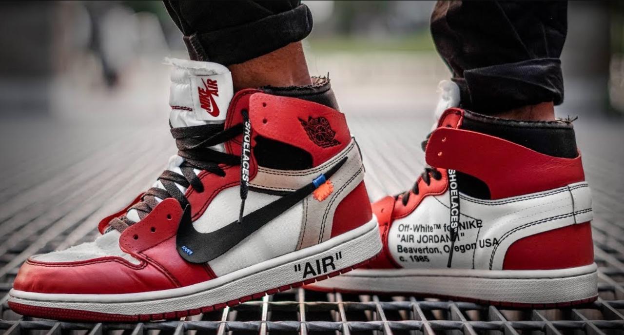 Мужские кроссовки Nike Air Jordan Off White (Найк Аир Джордан Офф Вайт)