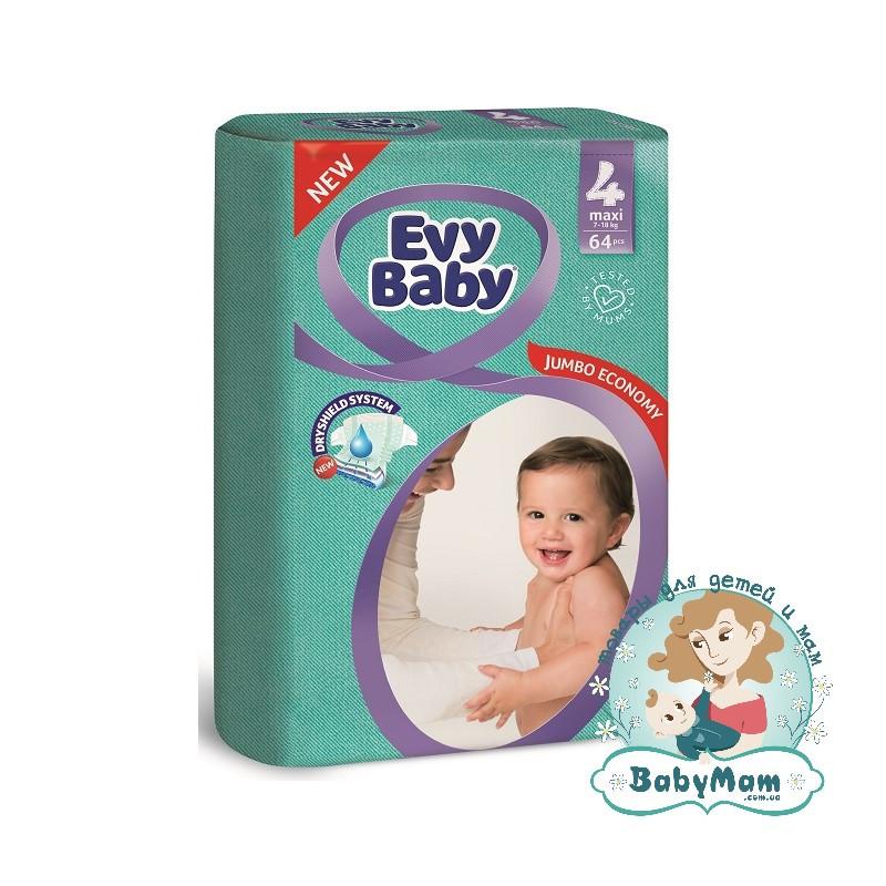 Подгузники Evy Baby 4 (7-18 кг), 64шт