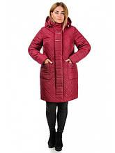 Зимнее пальто женское (Бордо)