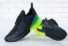 Кроссовки мужские черные Nike Air Max 270 (реплика), фото 2