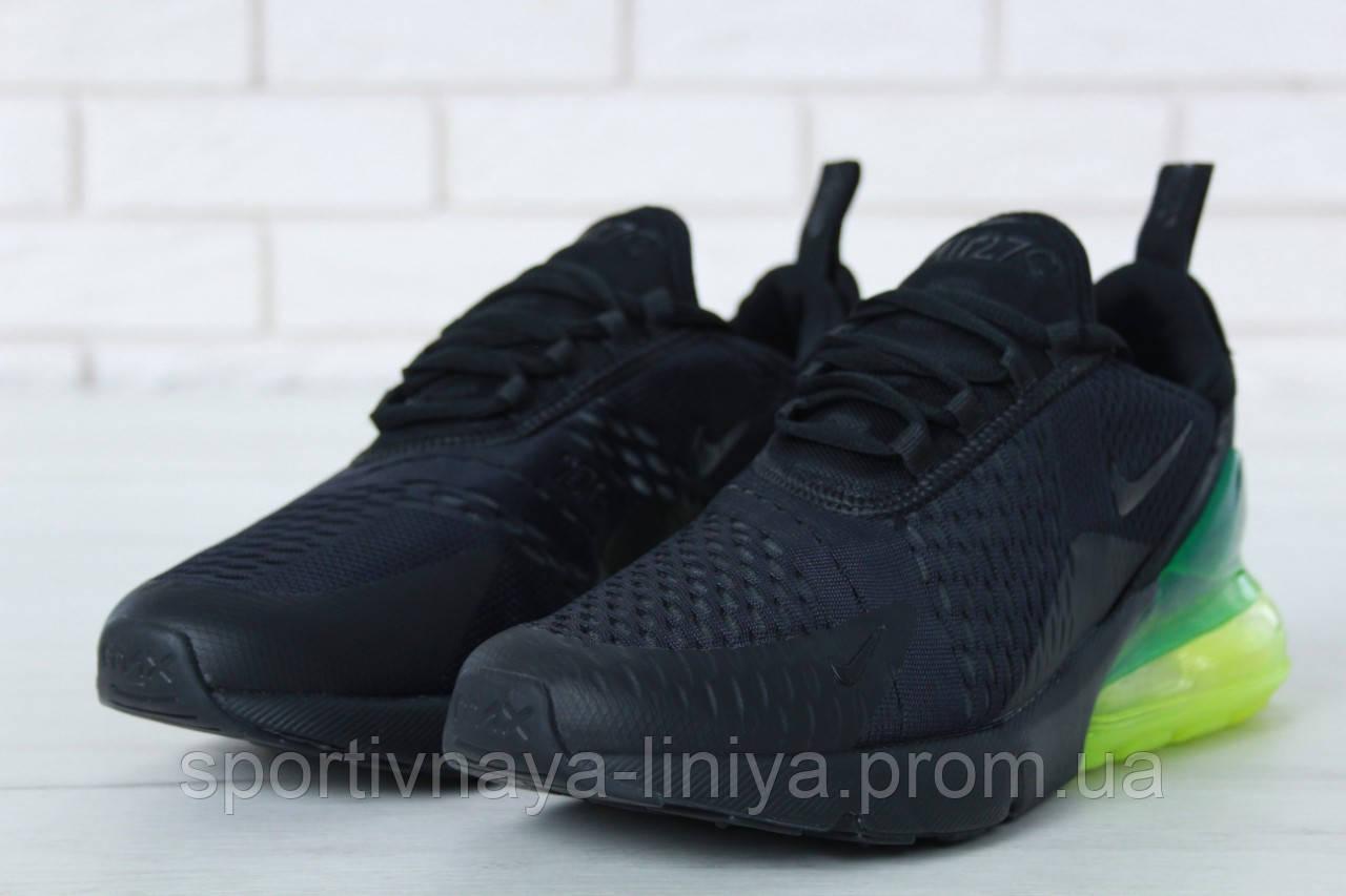 Кроссовки мужские черные Nike Air Max 270 (реплика)