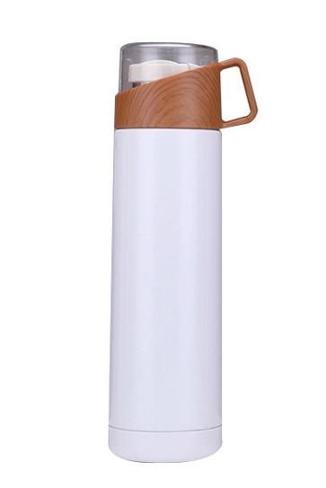 Термос SUNROZ с кружкой 500 мл Белый  (SUN2023)