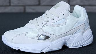 Женские кроссовки Adidas Falcon Triple White, Адидас Фалькон Белые