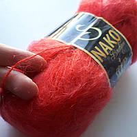 Пряжа Nako King Mohair 50% мохер цвет красный