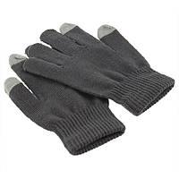 Перчатки для сенсорных экранов черные серые , фото 1