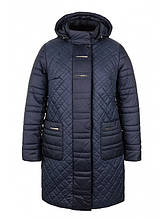 Зимнее пальто женское (т.синий)