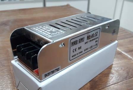 Блок питания удлиненный 12V-60W-5А серия MS, фото 2