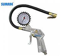Пистолет для подкачки с манометром до 15 атм SUMAKE SA-6600A