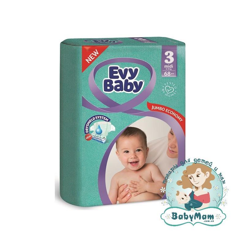 Подгузники Evy Baby 3 (5-9 кг), 68шт
