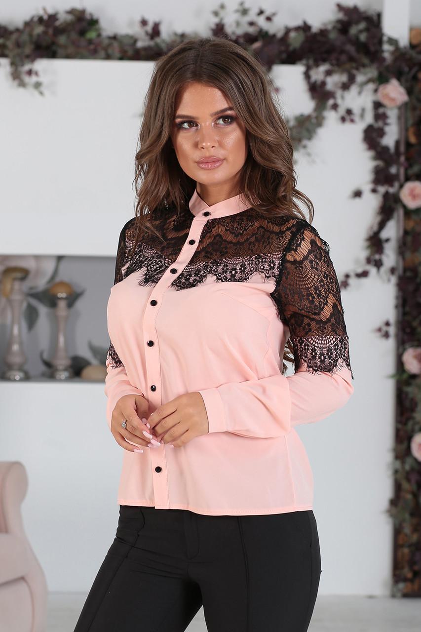 Рубашка Сабрина в цвете пудра