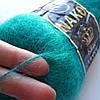 Пряжа Nako King Mohair 50% мохер цвет зелёный