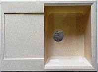 Мойка кухонная квадратная с сушильным столом оборачиваемая Florencia ТМ Škana из искусственного камня
