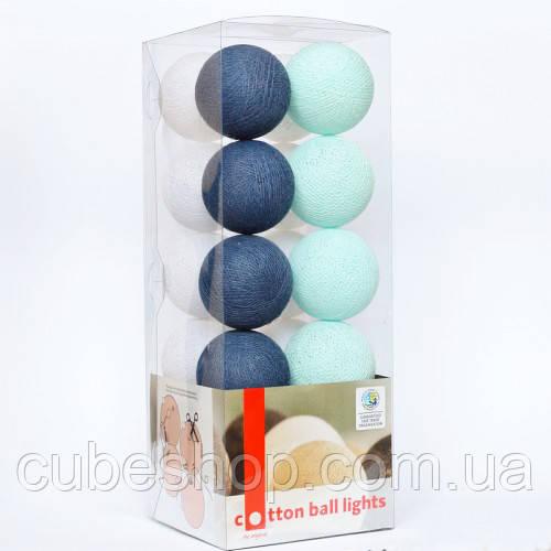 """Тайская гирлянда """"Navy blue"""" (20 шариков) линия"""