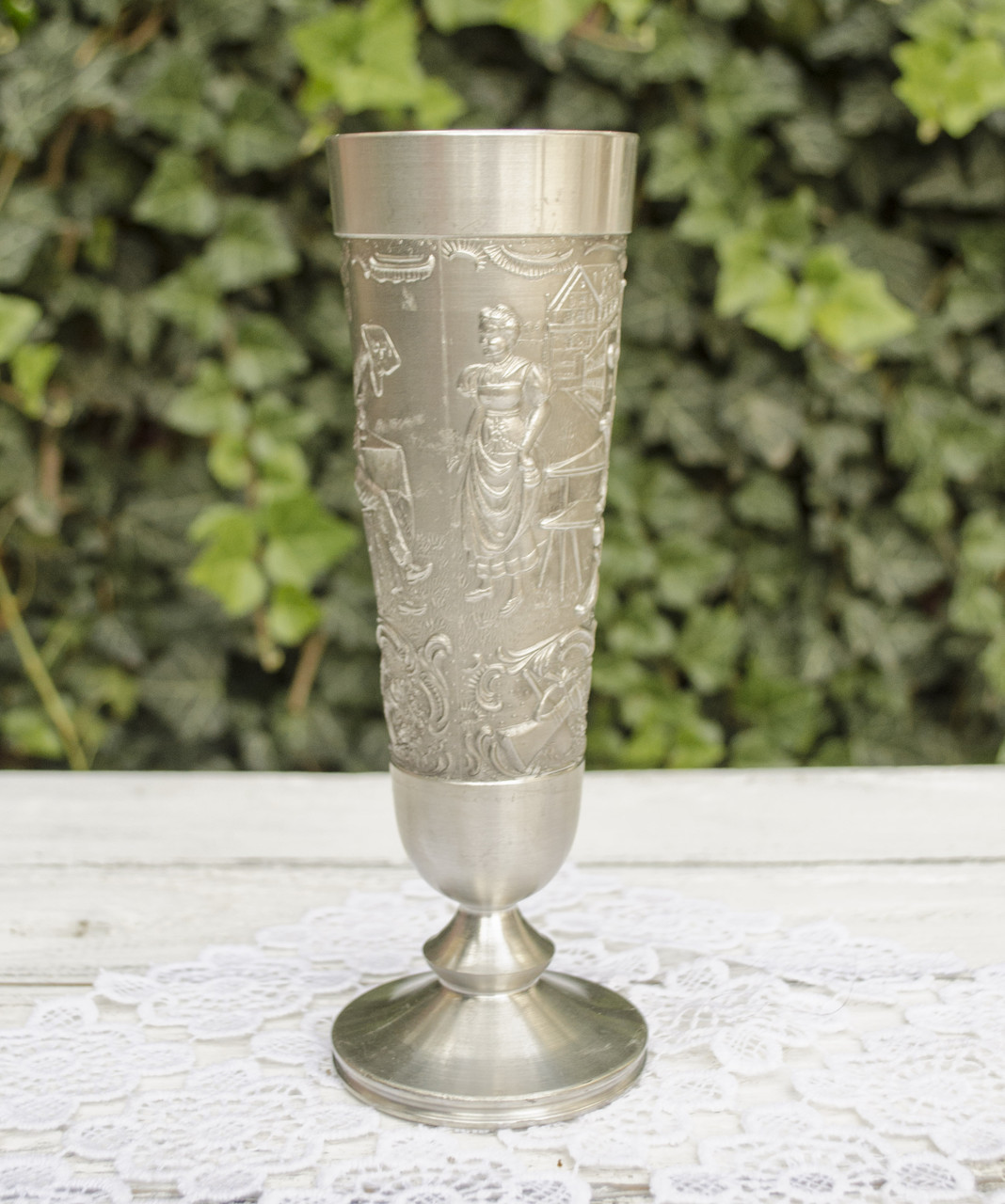 Винный оловянный бокал, пищевое олово, Германия 280 мл