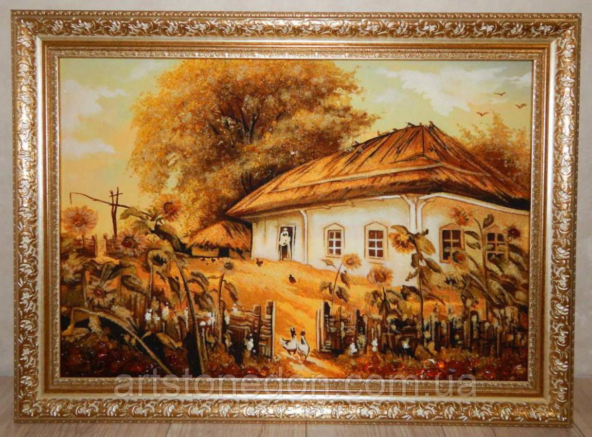 Картины из янтаря купить Хата