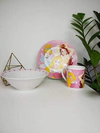Набір дитячої керамічного посуду Принцеси Дісней, фото 2