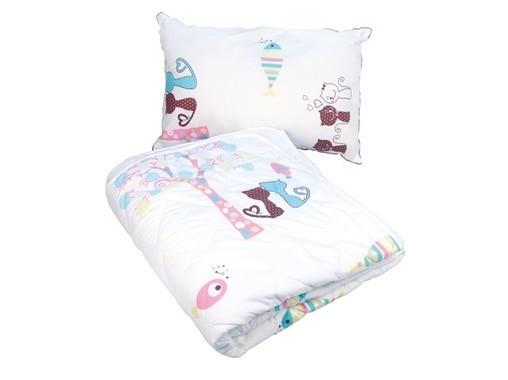 Комплект детский 'Котята' (Подушка + Одеяло)