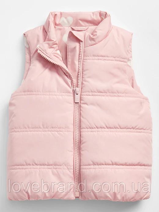 Легкая жилетка розовая для девочки GAP