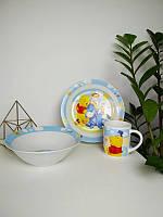 Набор детской посуды из керамики Винни Пух