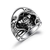 Мужское кольцо из стали «Череп» - р. 18, 19, 21.5, фото 1