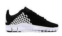"Кроссовки Nike Free Inneva Woven II ""Black/White"" - ""Черные Белые""  (Копия ААА+)"