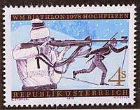 Австрия 1977 г. Соревнования по биатлону