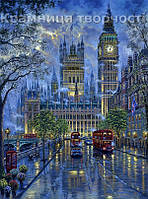 """Роспись по номерам на холсте """"Лондон. Вестминский дворец"""", 40х50см. (VS041, MG1151, КН1151)"""