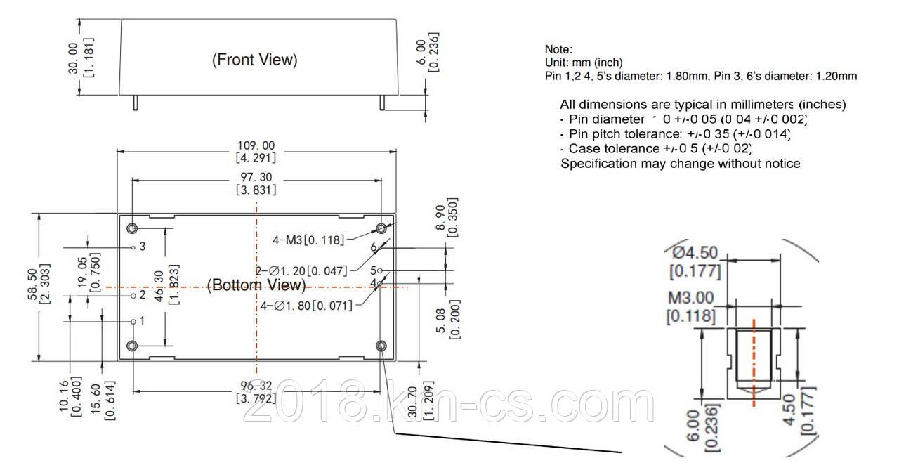 Микросхема AC-DC PPM60-G-48ELF (PEAK electronics)