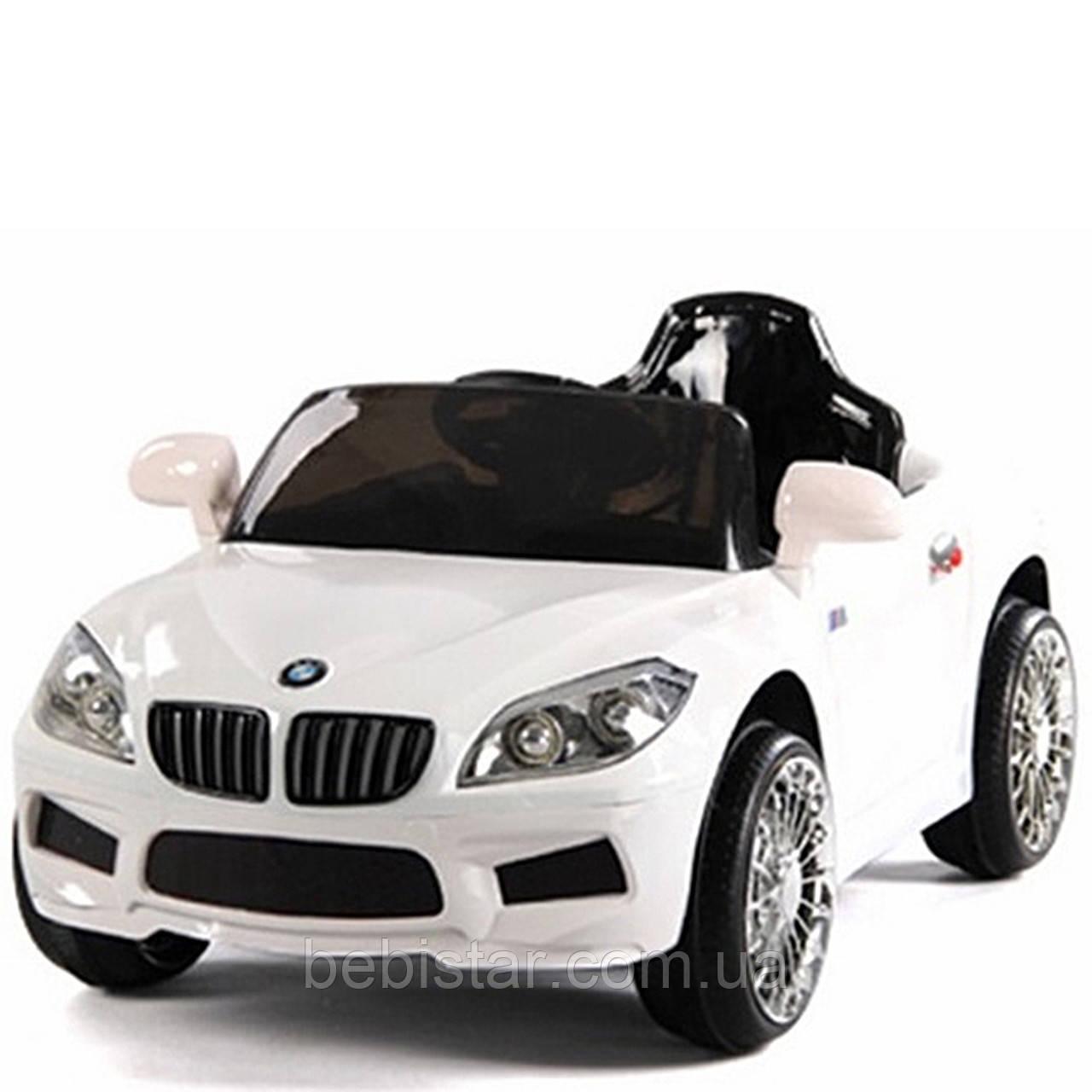 Электромобиль белый T-764 WHITE для деток 3-8 лет с пультом мотор 1*20W аккумулятор 6V4.5AH