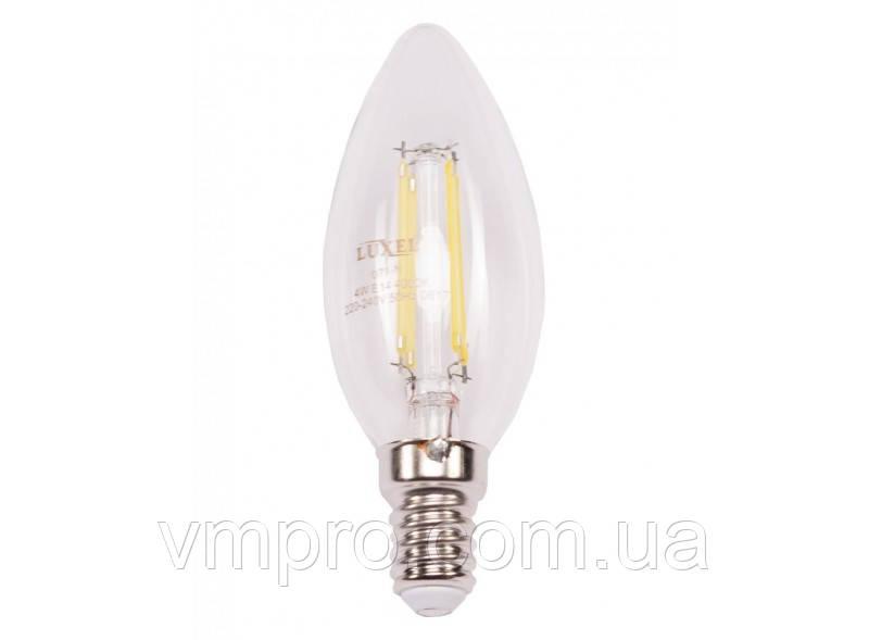 Світлодіодна лампа Filament Luxel C35 4W, 220V (071-H 4W)