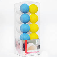 "Тайская LED-гирлянда ""National"" (10 шариков) на батарейках"