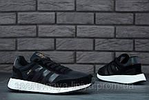 Кроссовки мужские черные Adidas INIKI (реплика), фото 3