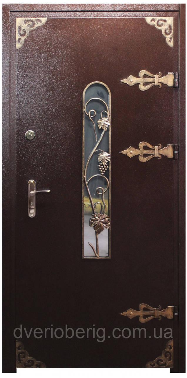 Входная дверь модель Метал/Мдф  Д-1 ПАТИНА КОВКА