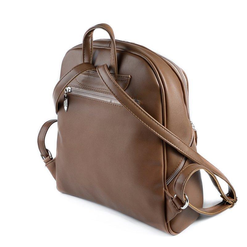 c87fd9d7e772 Коричневый женский рюкзак М179-97 на молнии вместительный городской, цена  400 грн., купить в Днепре — Prom.ua (ID#205321836)