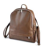 Коричневый женский рюкзак М179-97 на молнии вместительный городской, фото 1