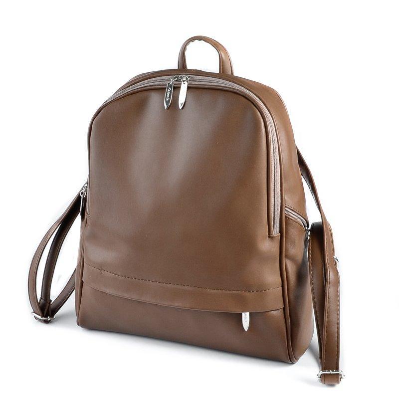 744e296131e6 Коричневый женский рюкзак М179-97 на молнии вместительный городской, фото 1
