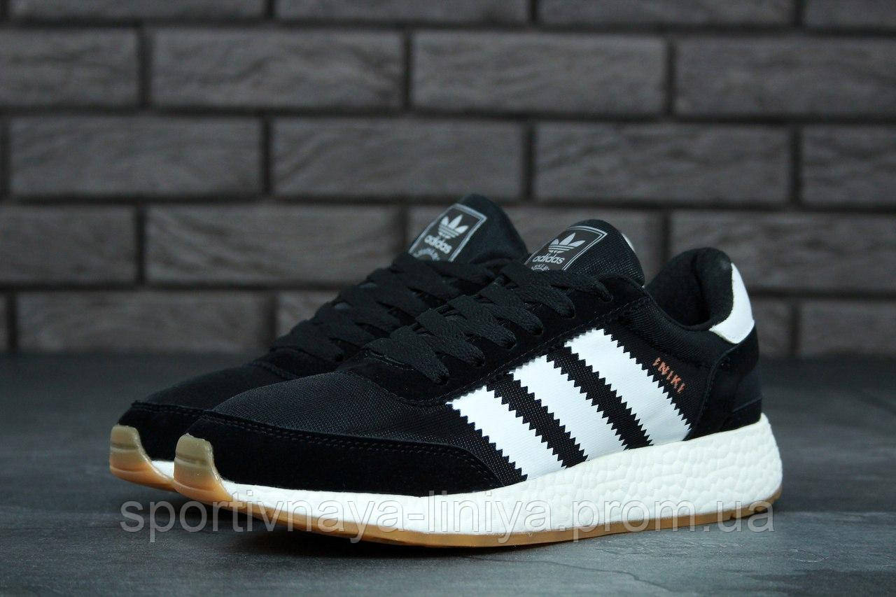 Кроссовки мужские черные Adidas INIKI (реплика)