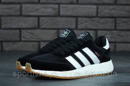 Кроссовки мужские черные Adidas INIKI (реплика), фото 2