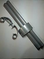 Ручка офисная прямая 500 мм серая RAL 7024