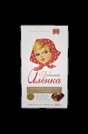 """Шоколад Элит 200г Молочный с начинкой """"Любимая Аленка с халвой"""", фото 2"""