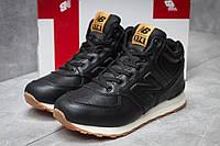 Зимние кроссовки  на мехуNew Balance 574, черные (30131) размеры в наличии ►(нет на складе), фото 1