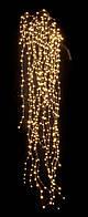 Новогодняя гирлянда Конский хвост, 25 линий по 2 метра, тёплый белый, мигает (каждая 4-я лампочка)