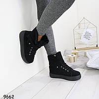 Ботинки женские черные 9662
